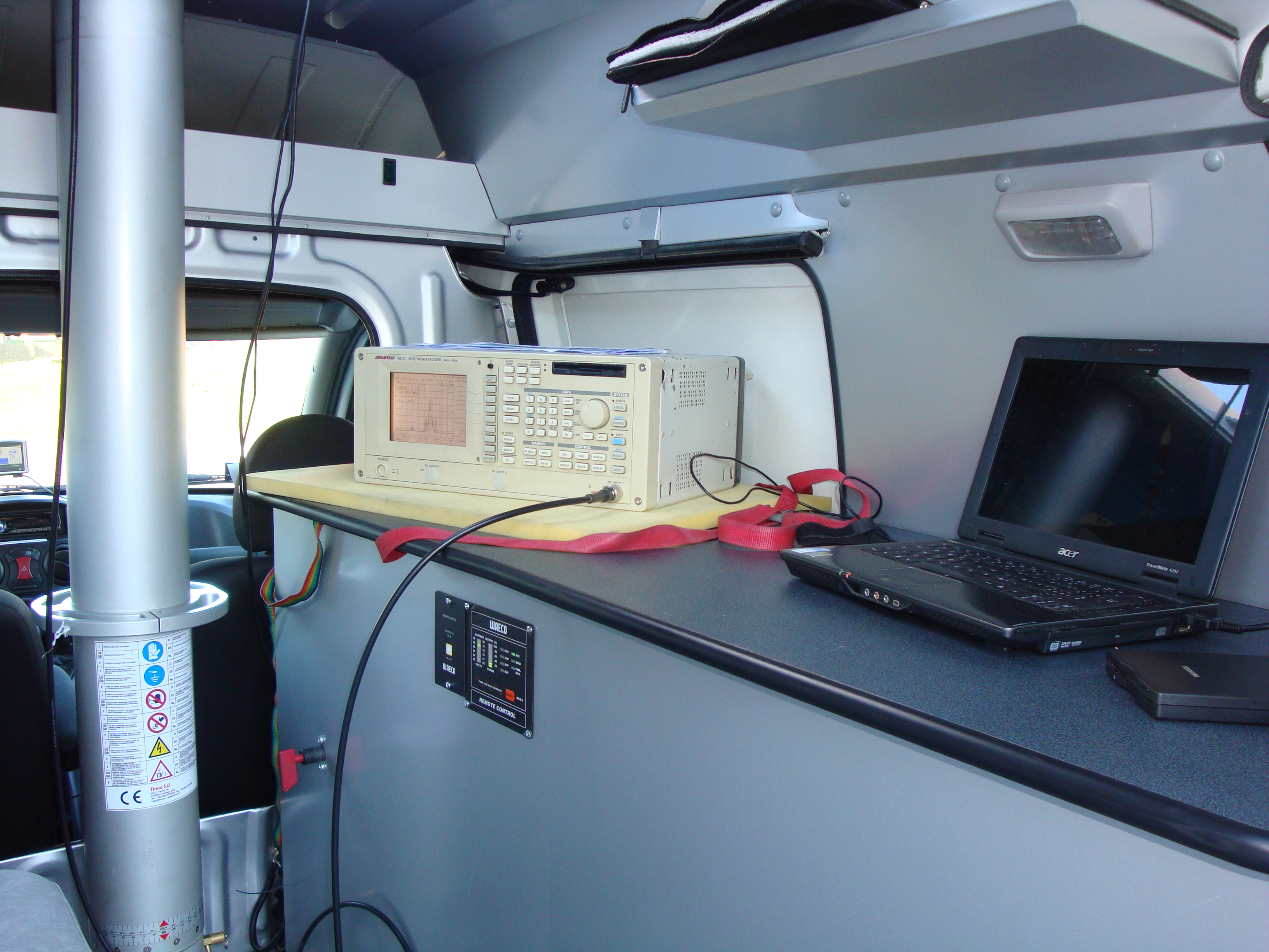 Tecnomedia20furgone206 - Misure radioelettriche sul territorio